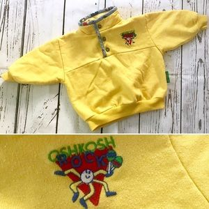 Vintage 1980's Oshkosh B'gosh yellow sweatshirt